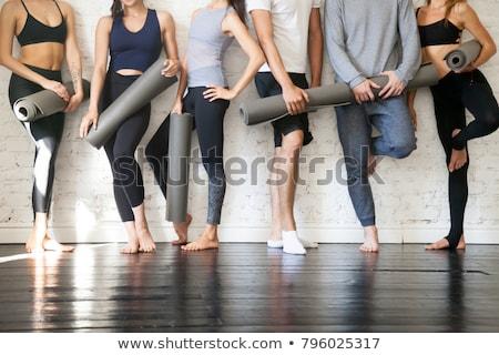 Pilates örnek soyut egzersiz kadın arka plan Stok fotoğraf © kentoh