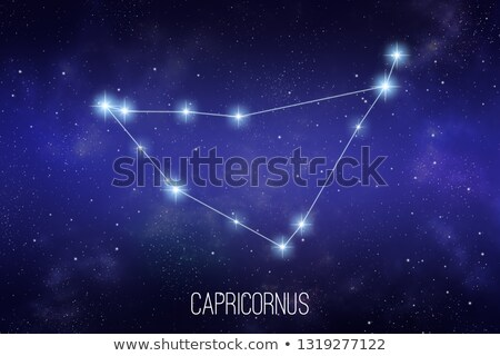 Starfield background of zodiacal symbol 'Capricorn' Stock photo © kayros