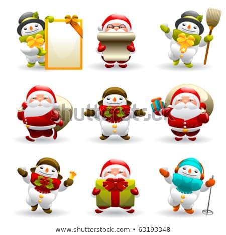 Дед · Мороз · сообщение · совета · изолированный · знак · весело - Сток-фото © bluering