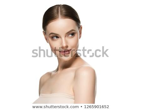 Gyönyörű lány portré gyönyörű barna hajú nő természet Stock fotó © Aikon
