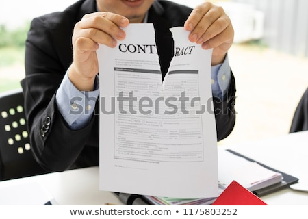 Cancel Business Contract Stock photo © devon