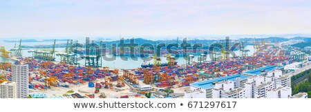 Singapore port panorama Stock photo © joyr