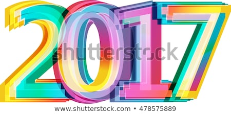 shiny colorful 2017 text design in colorful style Stock photo © SArts