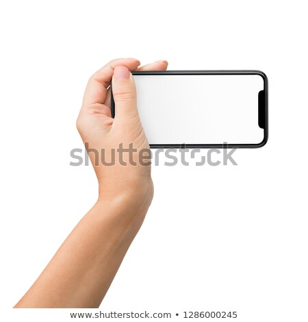 focus on a smartphone in horizontal position stock photo © giulio_fornasar
