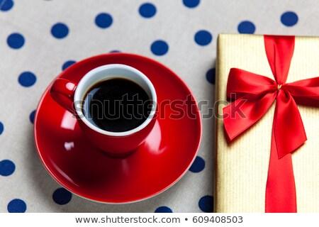 foto · copo · café · branco · pontilhado - foto stock © massonforstock