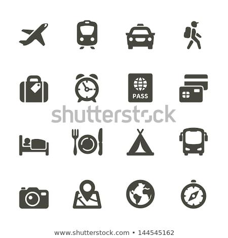 Icono viaje taxi ciudad lineal estilo Foto stock © Olena