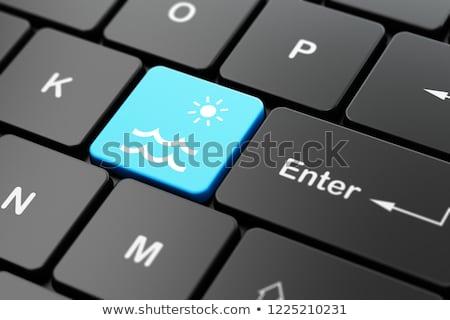 компьютер · Desktop · бюро · путешествий · бизнесмен · работу - Сток-фото © tashatuvango