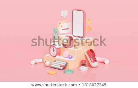 Internet Shopping on Watch. 3D Illustration. Stock photo © tashatuvango