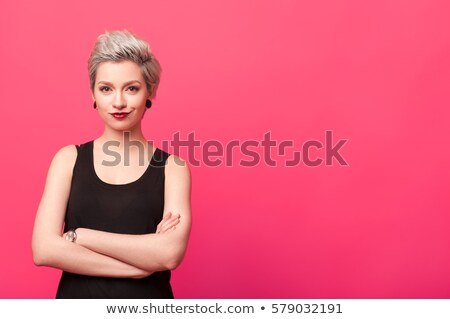 портрет женщину студию белый футболки изолированный Сток-фото © filipw