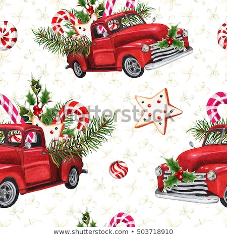 Vintage Toy Truck and Candy canes Stock photo © StephanieFrey