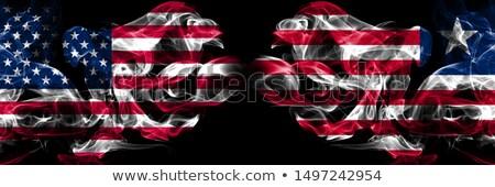 Futebol chamas bandeira Libéria preto ilustração 3d Foto stock © MikhailMishchenko