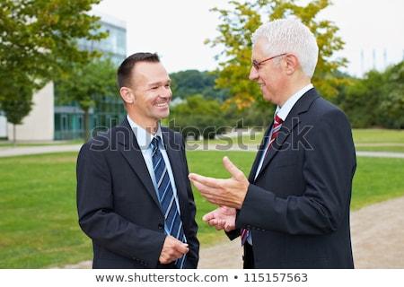 Due imprenditori piedi natura business imprenditore Foto d'archivio © IS2