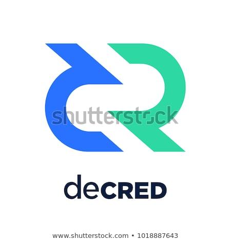 Logo icon grijs virtueel valuta vector Stockfoto © tashatuvango