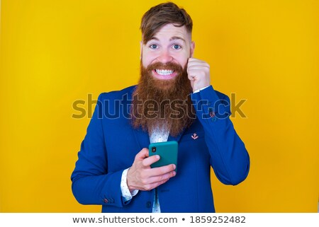 Cheerful businessman. Joyous boss. Happy Manager isolated Stock photo © popaukropa
