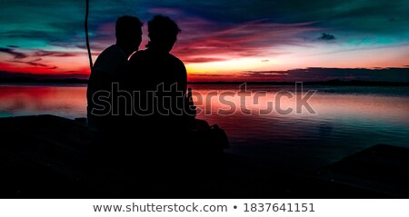 Couple at the end of a dock Stock photo © IS2