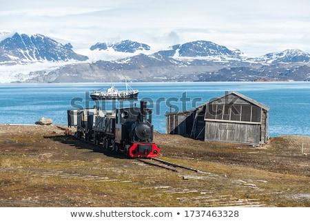 oude · locomotief · spoorweg · landelijk · veld · dramatisch - stockfoto © foka