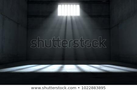 Börtön acél börtön ablak 3d illusztráció fal Stock fotó © drizzd