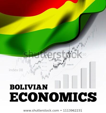 экономика Боливия флаг бизнеса диаграммы гистограмма Сток-фото © m_pavlov