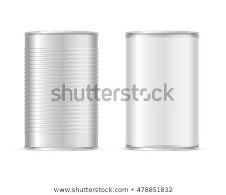 Kapalı kalay can ahşap konteyner Stok fotoğraf © Digifoodstock