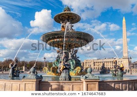 parisian fountain de mers stock photo © givaga