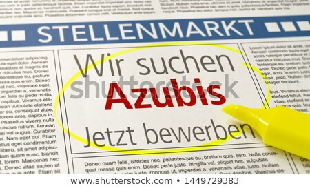 Job ad in a newspaper - Apprentices wanted Stock photo © Zerbor