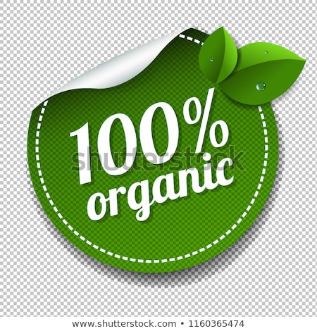 100 organic product labels set transparent background stock photo © cammep