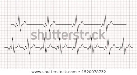 Cardiogramme icône coeur santé médecine vie Photo stock © unikpix