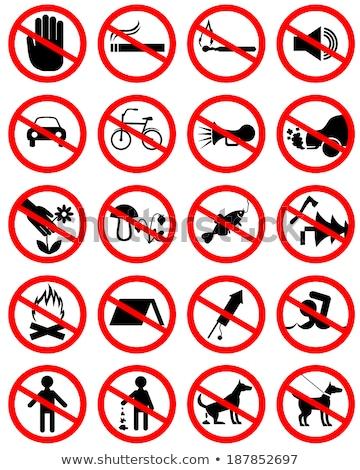 geen · camping · teken · symbool · icon · witte - stockfoto © romvo