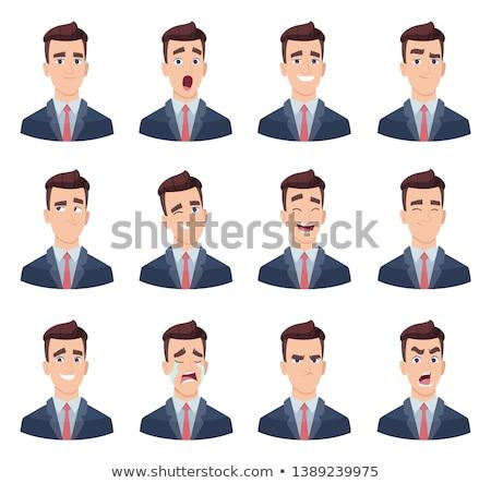 Empresário sentimento raiva homem Foto stock © robuart