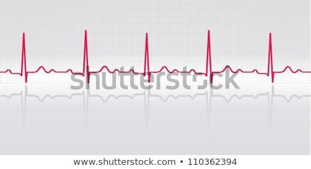 Latido del corazón ilustración médicos corazón salud medicina Foto stock © alexaldo