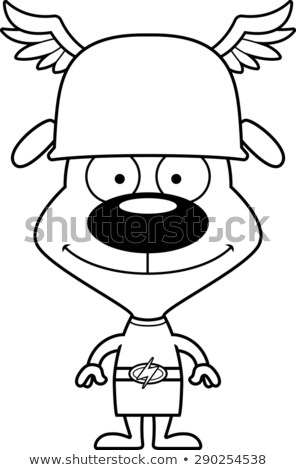 Cartoon Smiling Hermes Puppy Stock photo © cthoman