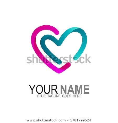 пурпурный любви сердце символ вектора логотип Сток-фото © blaskorizov