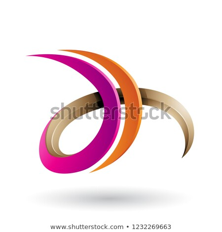 Laranja magenta 3D letra d vetor Foto stock © cidepix