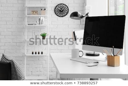 месте дизайна таблице компьютер удобный Председатель Сток-фото © robuart