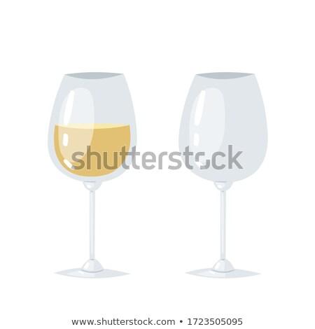 стекла вино плакат два иконки очки Сток-фото © robuart