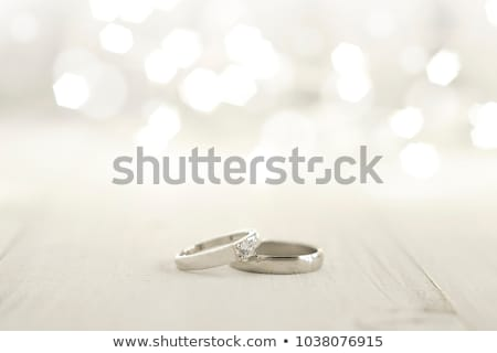 Two of wedding rings with bokeh background stock photo © ruslanshramko