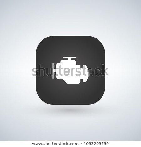 car engine icon isolated on app button. Trendy Simple vector sym Stock photo © kyryloff