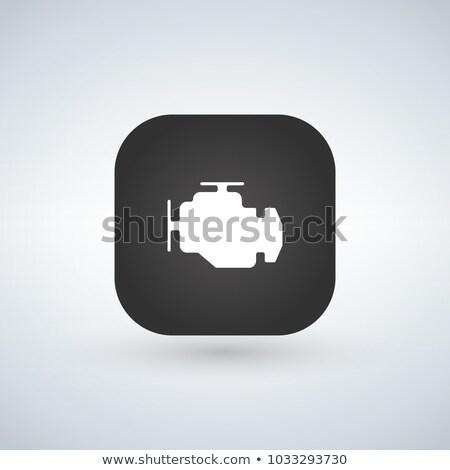 двигатель · проверить · знак · икона · автомобилей · панель · управления - Сток-фото © kyryloff