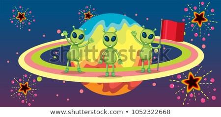 Trzy nowego planety ilustracja tekstury charakter Zdjęcia stock © colematt