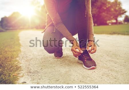 vrouw · horloge · gymnasium · sport · fitness - stockfoto © deandrobot