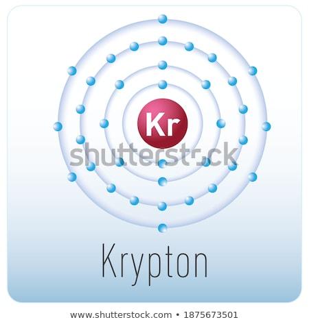 Atomo diagramma illustrazione sfondo arte disegno Foto d'archivio © bluering