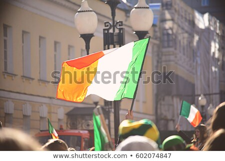 Casa bandera Irlanda blanco casas Foto stock © MikhailMishchenko