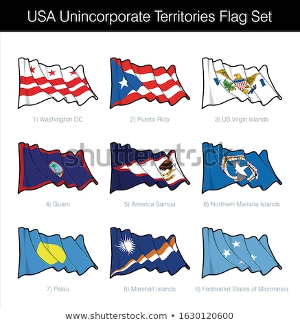 House with flag of northern mariana islands Stock photo © MikhailMishchenko