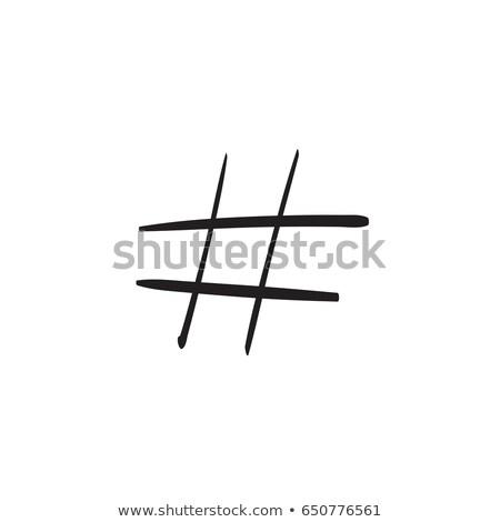 Key on tag hand drawn outline doodle icon. Stock photo © RAStudio