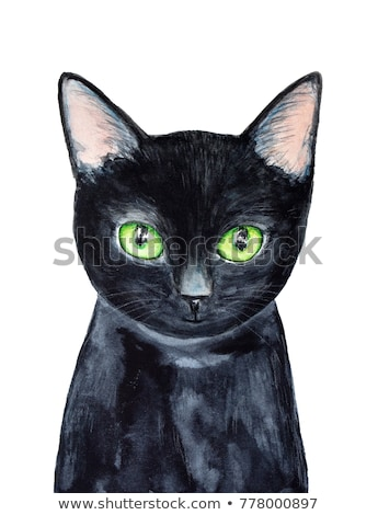 Bad hand-painted cute cat illustration  Stock photo © Blue_daemon