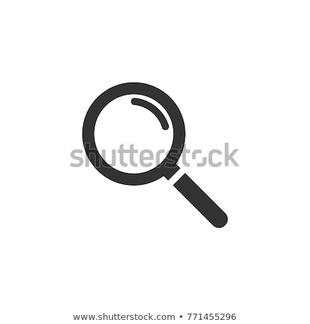 Icono lupa vector arte ilustración Foto stock © vector1st
