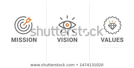 Küldetés ikon hegycsúcs zászló szín terv Stock fotó © angelp