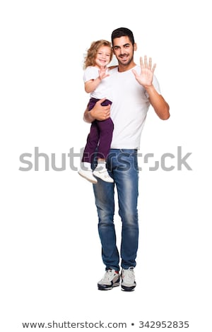 Father Carrying Young Daughter on Shoulders Parent Stock photo © robuart