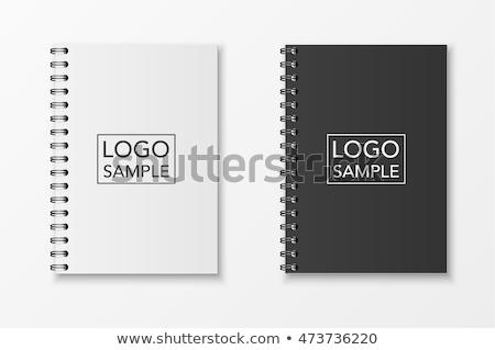 ノートブック · セット · スパイラル · ベクトル · 帳 · クリーン - ストックフォト © adamson