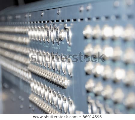 Studio xrl cables patch panel. Stock photo © nemalo